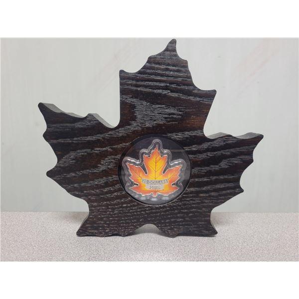 2016 $20 fine silver Canada's colorful maple leaf 99.99%