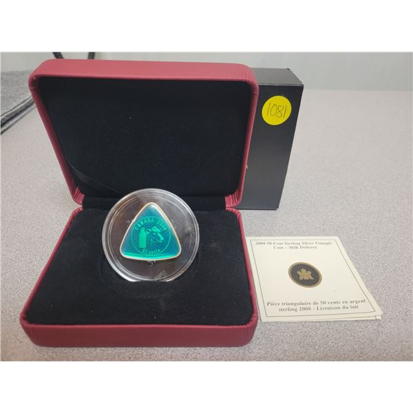 2008 50 cent sterling silver triangle coin - Milk delivery - Royal Canadian Mint