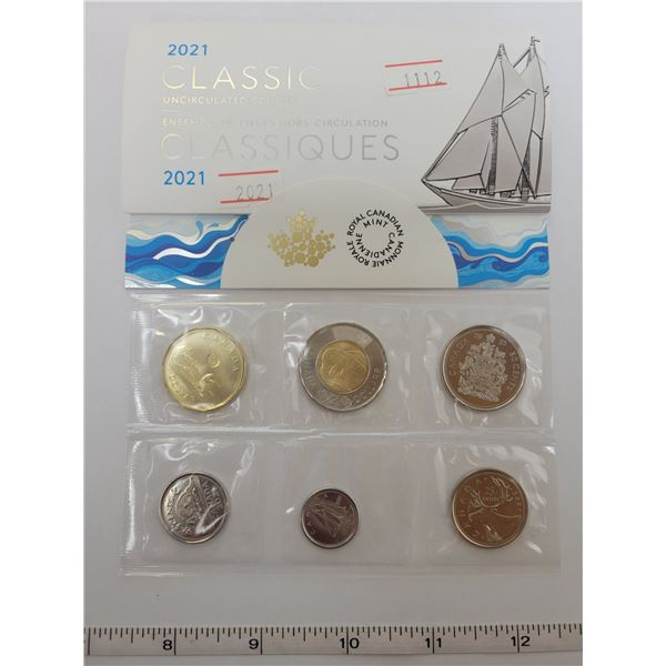 Canada 2021 RCM mint set 5 cent to the $2.00