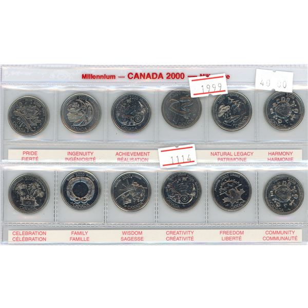 Canada 1999 millennium set of 12 uncirculated coins