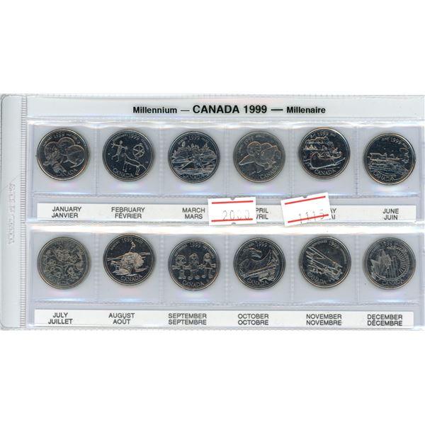 Canada 2000 millennium et of 12 uncirculated coins