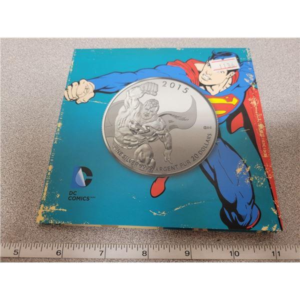 2015 $20 for $20 fine silver Superman coin Canada
