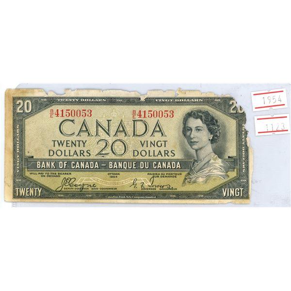 1954 $20 bank note Devil's face portrait