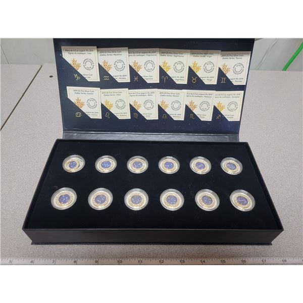 2019 12 coin fine silver $5 coin set - Zodiac Series 99.99% silver
