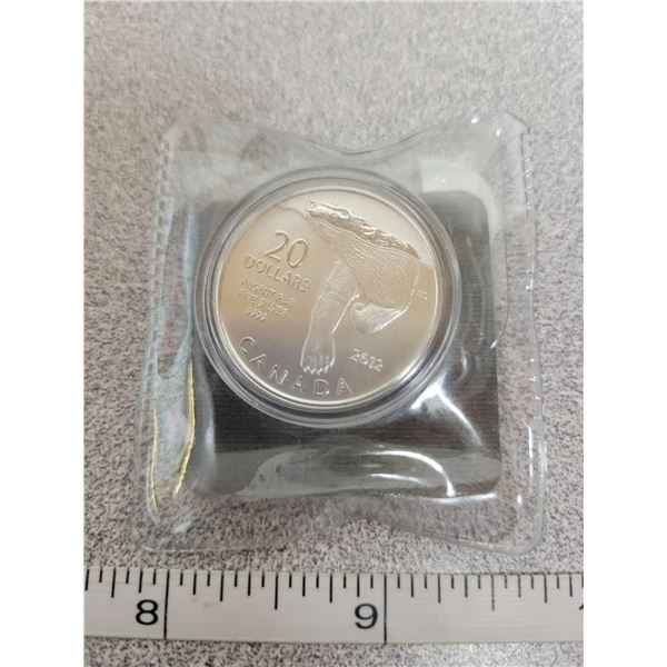 2012 $20 fine silver coin - Polar Bear