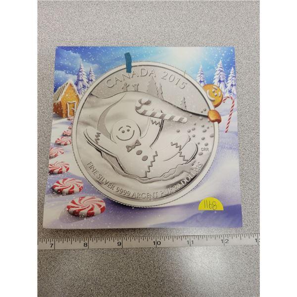 2015 $20 fine silver coin - Gingerbread man