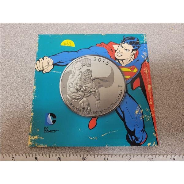 2015 $20 fine silver coin - Superman