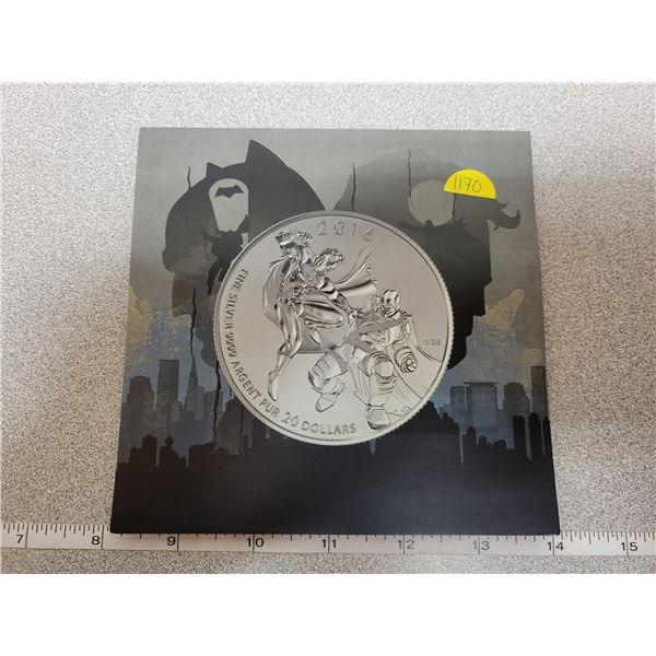 2016 $20 fine silver coin - Batman vs Superman
