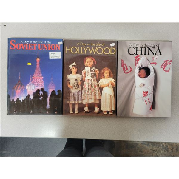 """3 books - """"Day in the life"""" China, Hollywood & Soviet Union"""