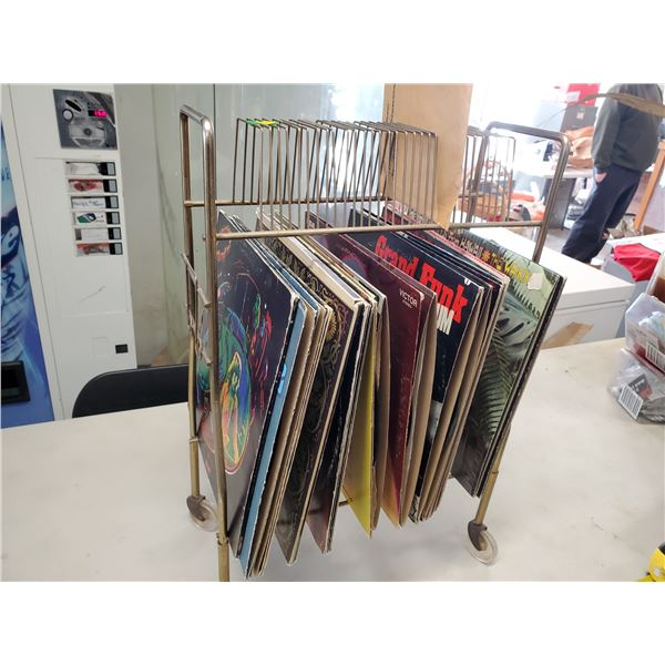 records & vintage record stand