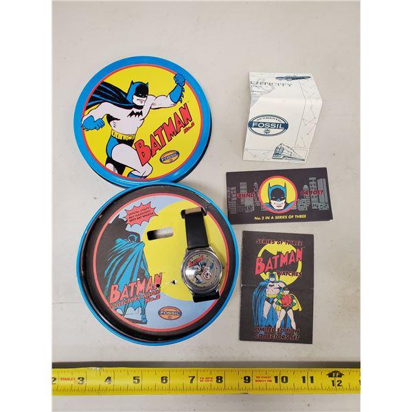 limited edition Fossil Batman watch