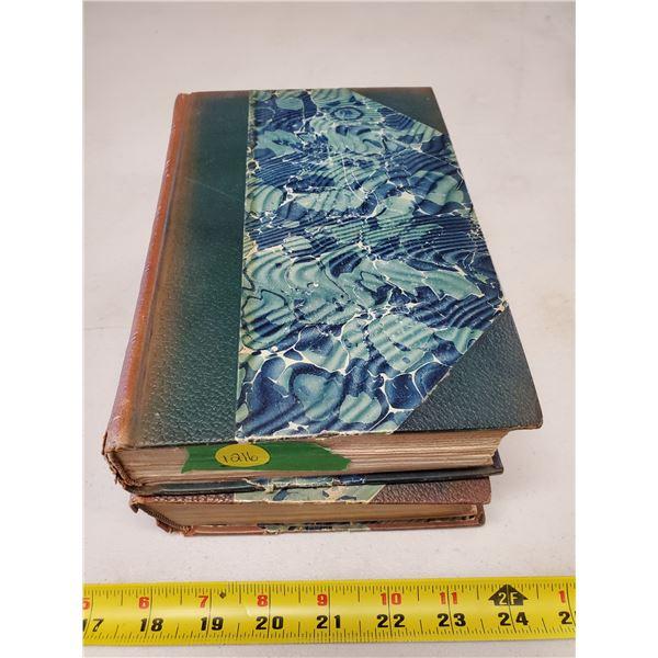 2 antique sir walter scott books