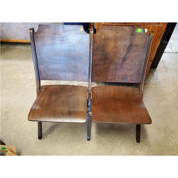 antique wooden folding theatre chairs