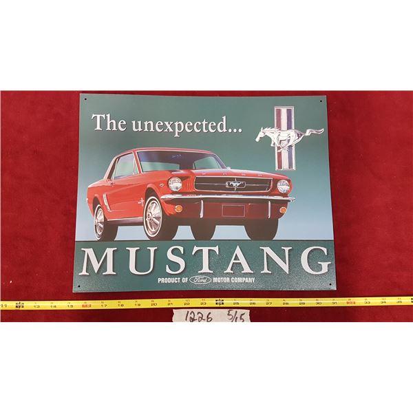 Mustang Tin Sign