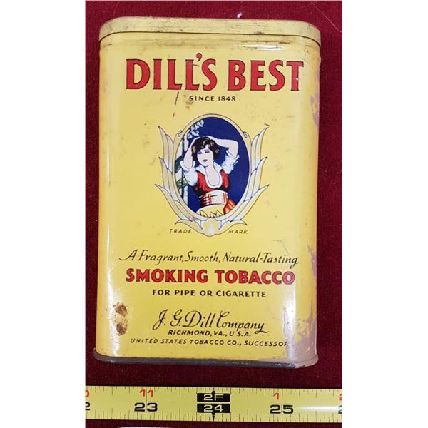 Dills Best Tobacco Tin