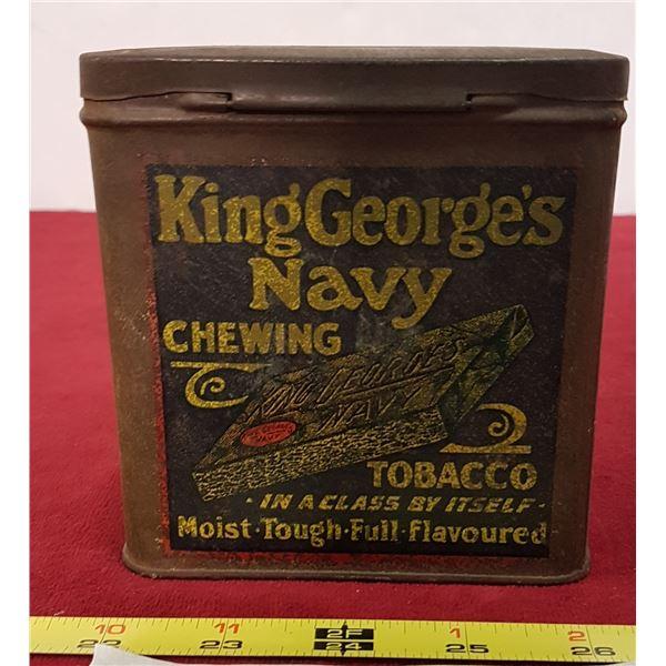King George Tobacco Tin