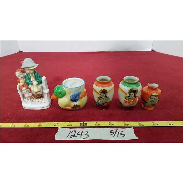 5 Occupied Japan Figurines