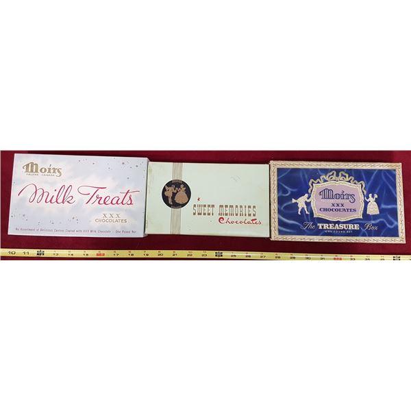 3 Vintage Chocolate Boxes