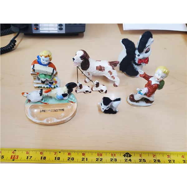 Lot of figurines, some made in Japan