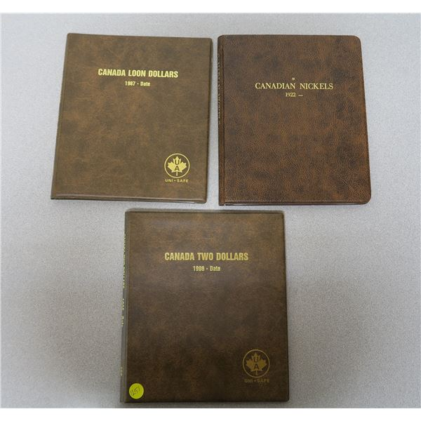 3 Empty Coin Collecting Cases
