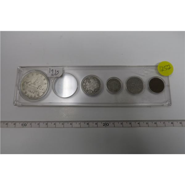 1935 Canadian Coin Set 5Piece