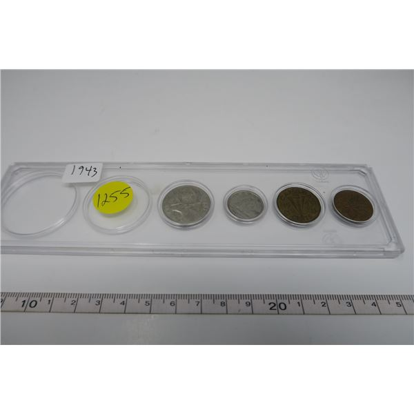 1943 Canadian Coin Set 4 Piece