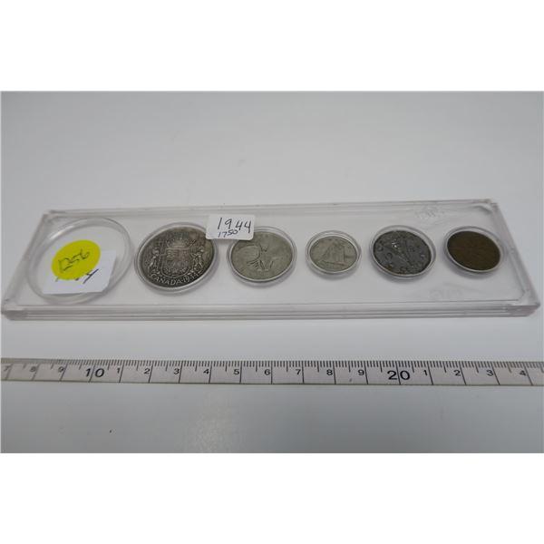 1944 Canadian Coin Set 5 Piece