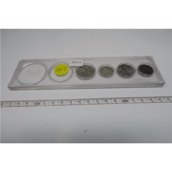 1944 Canadian Coin Set 4 Piece