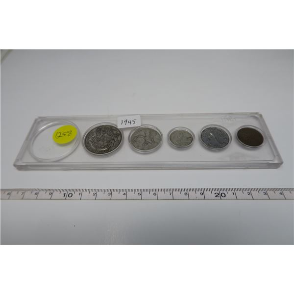 1945 Canadian Coin Set 5 Piece