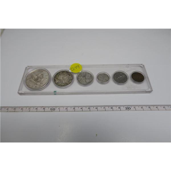 1949 Canadian Coin Set 6 Piece