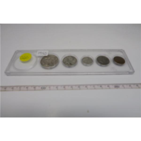 1950 Canadian Coin Set 5 Piece