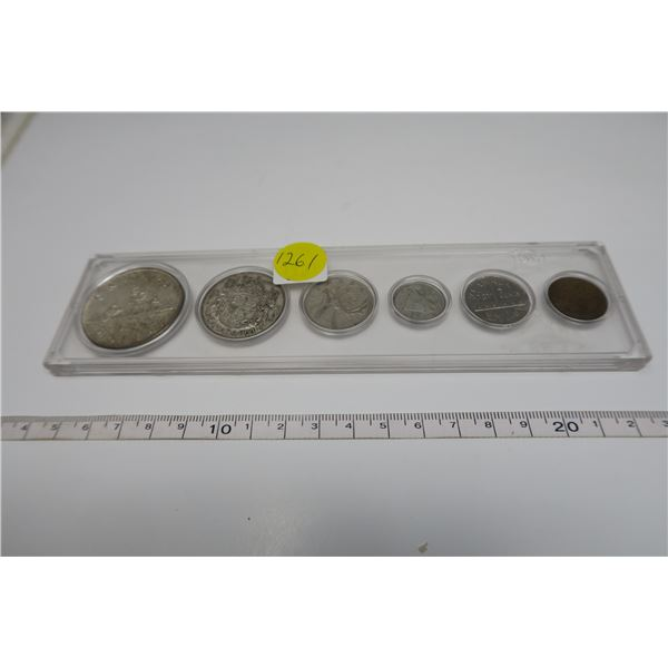 1951 Canadian Coin Set 6 Piece