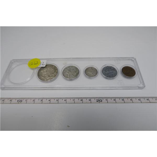 1952 Canadian Coin Set 5 Piece