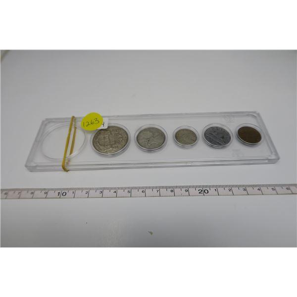 1954 Canadian Coin Set 5 Piece