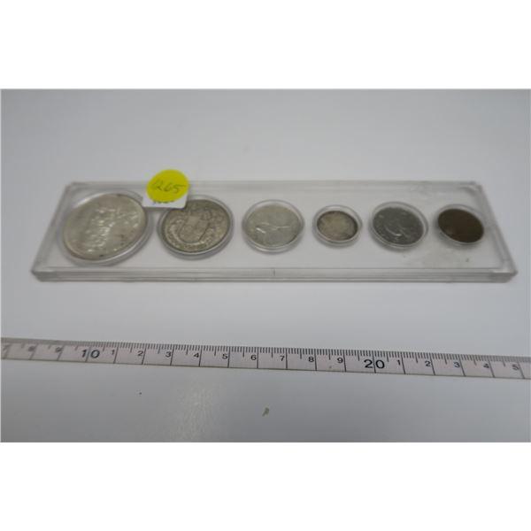 1958 Canadian Coin Set 6 Piece