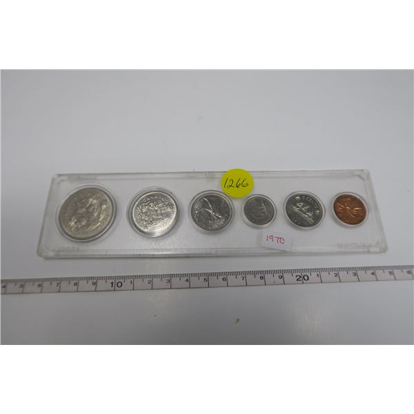 1970 Canadian Coin Set 6 Piece