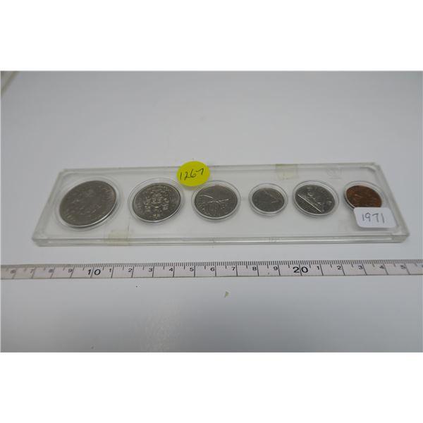 1971 Canadian Coin Set 6 Piece