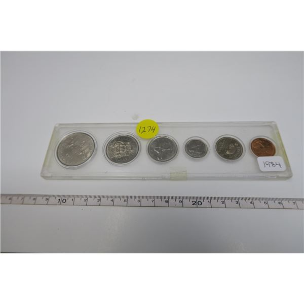 1984 Canadian Coin Set 6 Piece