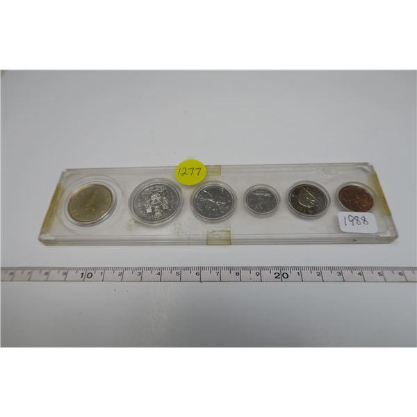 1988 Canadian Coin Set 6 Piece
