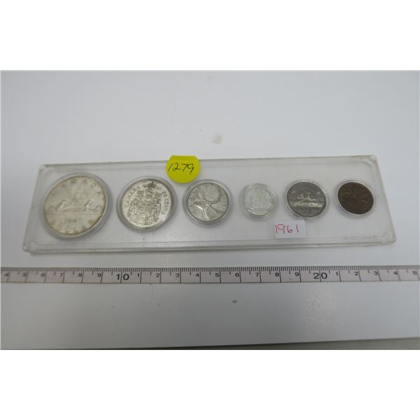 1961 Canadian Coin Set 6 Piece