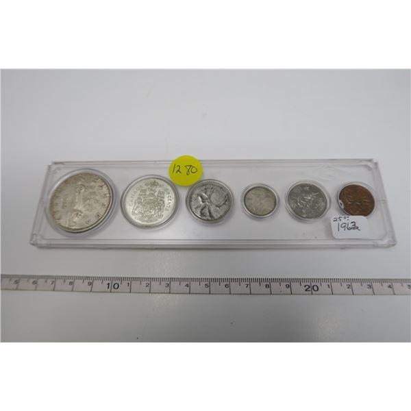 1962 Canadian Coin Set 6 Piece