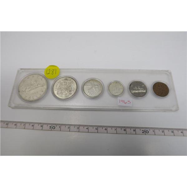 1963 Canadian Coin Set 6 Piece