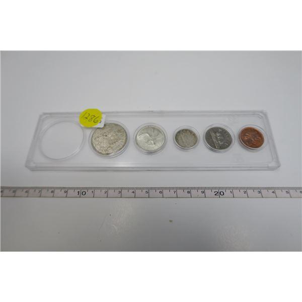 1965 Canadian Coin Set 5 Piece