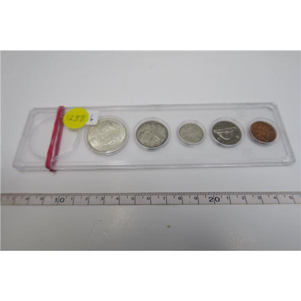 1966 Canadian Coin Set 5 Piece