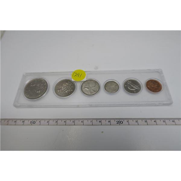 1968 Canadian Coin Set 6 Piece
