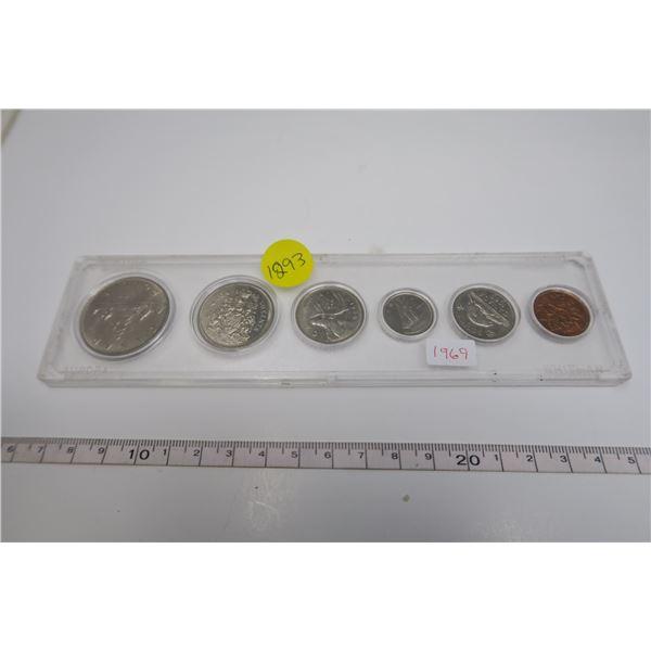 1969 Canadian Coin Set 6 Piece