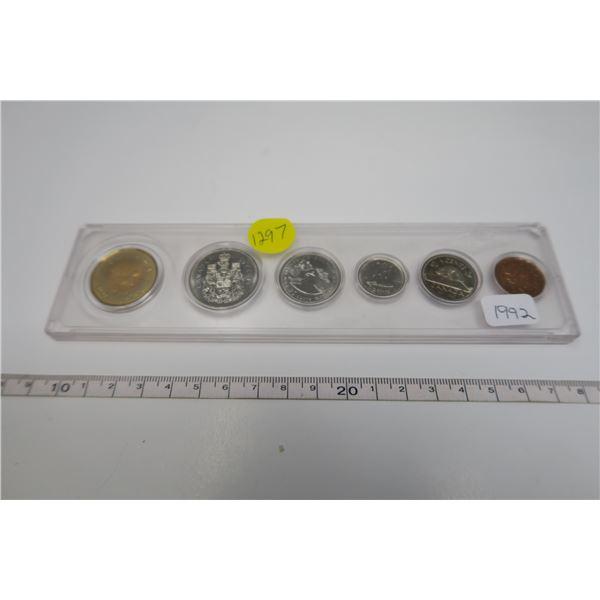 1992  Canadian Coin Set 6 Piece
