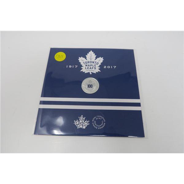 Toronto Maple Leafs Collecto $3 Fine Silver Coin