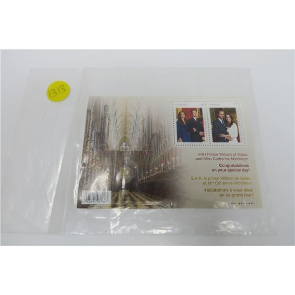Prince William and Kate Special Stamp Set 2010