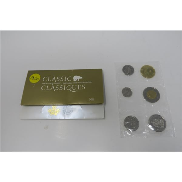 2018 Uncirculated Canadian Coin Set 6 Piece